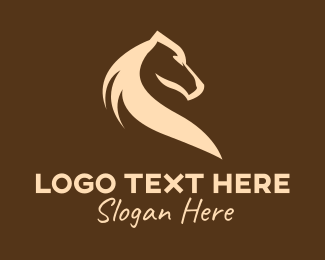 Mule - Brown Farm Horse logo design