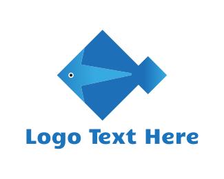 Aquarium - Diamond Fish logo design