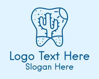 Dental - Desert Cactus Tooth  logo design