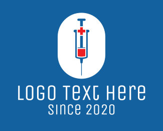 Vaccination - Medical Vaccine Syringe logo design
