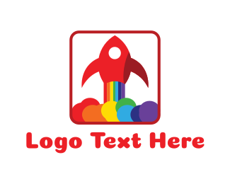 Lgbt - Rainbow Rocket logo design