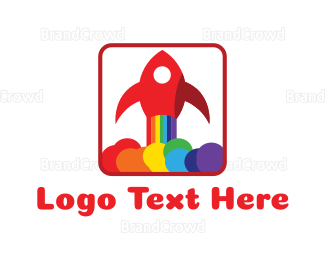 Rainbow - Rainbow Rocket logo design