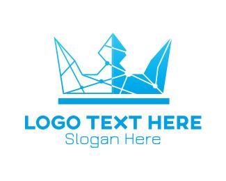 Lines - Sky Blue Crown logo design