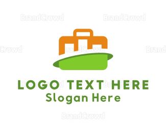 Briefcase - Finance Stats logo design