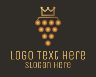 Crown - Golden Royal Grape logo design