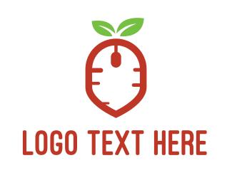 Information Technology - Carrot Mouse logo design
