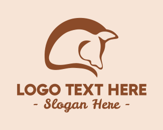 Horse Farm - Abstract Horse Mane  logo design