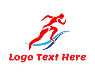 Runner - Red Runner logo design