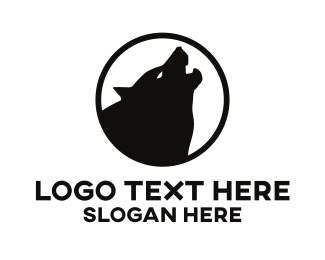 Witch - Howling Wolf logo design
