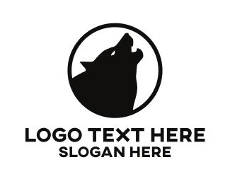 Canine - Howling Wolf logo design
