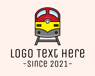 Toy Train - Subway Train Track logo design