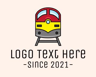 Train - Subway Train Track logo design