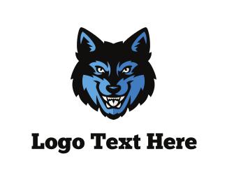 Baseball - Wolf Face logo design