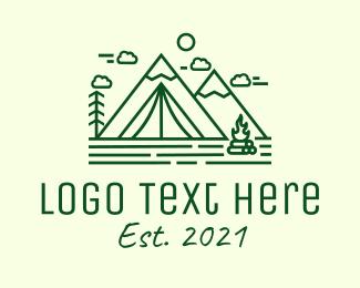 Clouds - Minimalist Camping Tent logo design