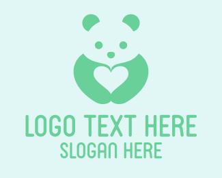 Panda - Panda Love logo design
