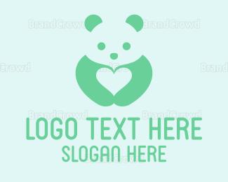 Nappy - Panda Love logo design