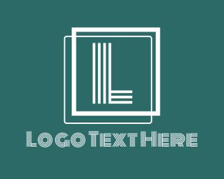 Lines - White Lines Letter logo design