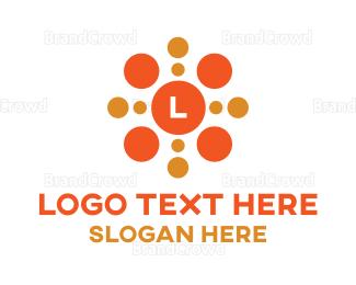 Lettermark - Bubble Dot Lettermark logo design