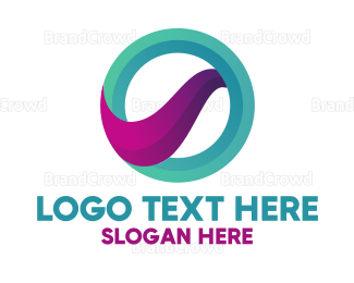 Corporation - Abstract Gradient Letter O  logo design