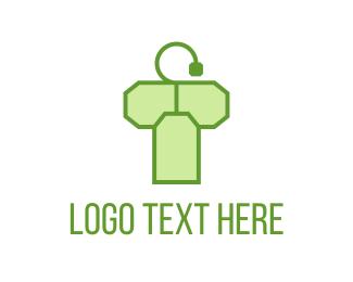 Green Tea - Tea Bag Letter T logo design
