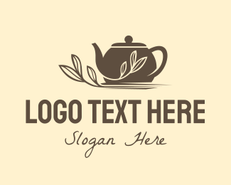Tea House - Brown Tea Pot logo design