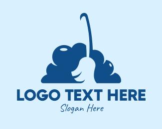 Sweeper - Broom Cloud  logo design