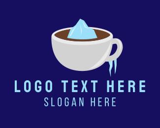 Ice - Iced Coffee logo design