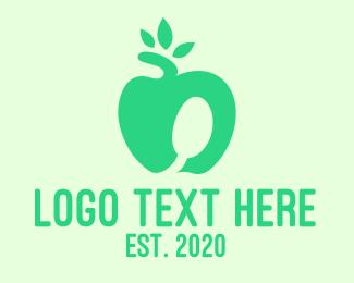 Smoothie - Healthy Apple logo design