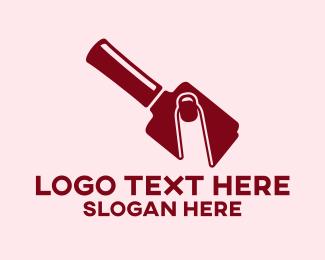 Nail Artist - Simple Nail Polish Bottle logo design