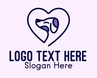 Happy - Happy Dog Heart  logo design