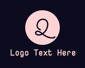 Makeup Artist - Cursive Pink Q  logo design