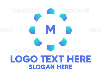 Chill - Blue Snowflake Lettermark logo design