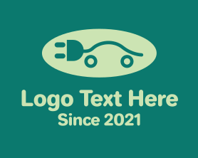 Brand - Green Electric Car Plug logo design