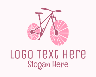 Mtb - Pink Travel  Bike  logo design