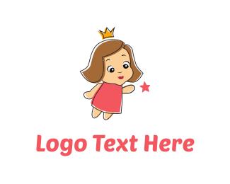 Queen - Little Princess logo design