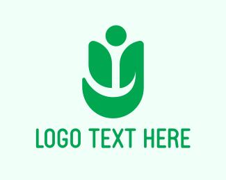 Letter Y - Human Leaf logo design