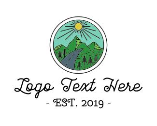 Road Trip - Natural Panorama logo design