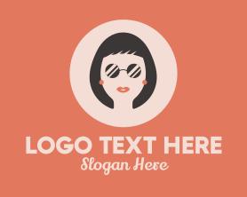 Fashion - Woman Fashion Lipstick Sunglasses logo design