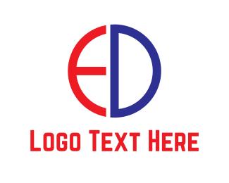Letter E - E & D  logo design