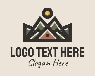 Traveller - Mountain Cabin Inn logo design