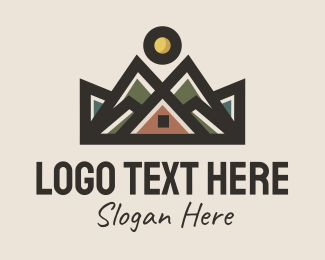 Explorer - Mountain Cabin Inn logo design
