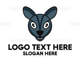 Pest - Blue Bunny Gamer logo design