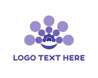 Caviar - Purple Circles logo design