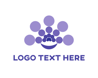 Centered - Purple Circles logo design
