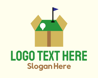 Hole - Golf Box logo design