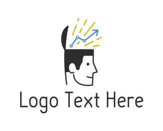 Statistic - Bright Idea logo design