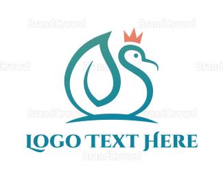 Duck - Leaf Duck King logo design