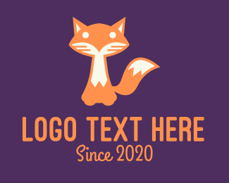 Coyote - Baby Fox Cub logo design