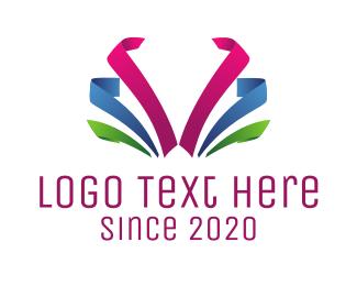Ribbon - Colorful Ribbon logo design