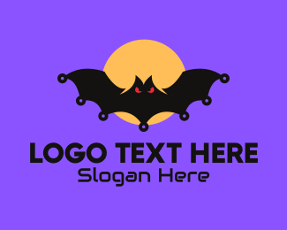 Midnight - Spooky Bat logo design